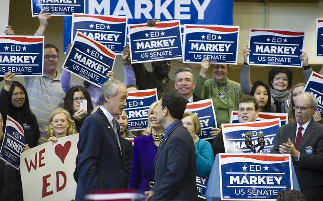 Ed Markey and the Mayor of Malden
