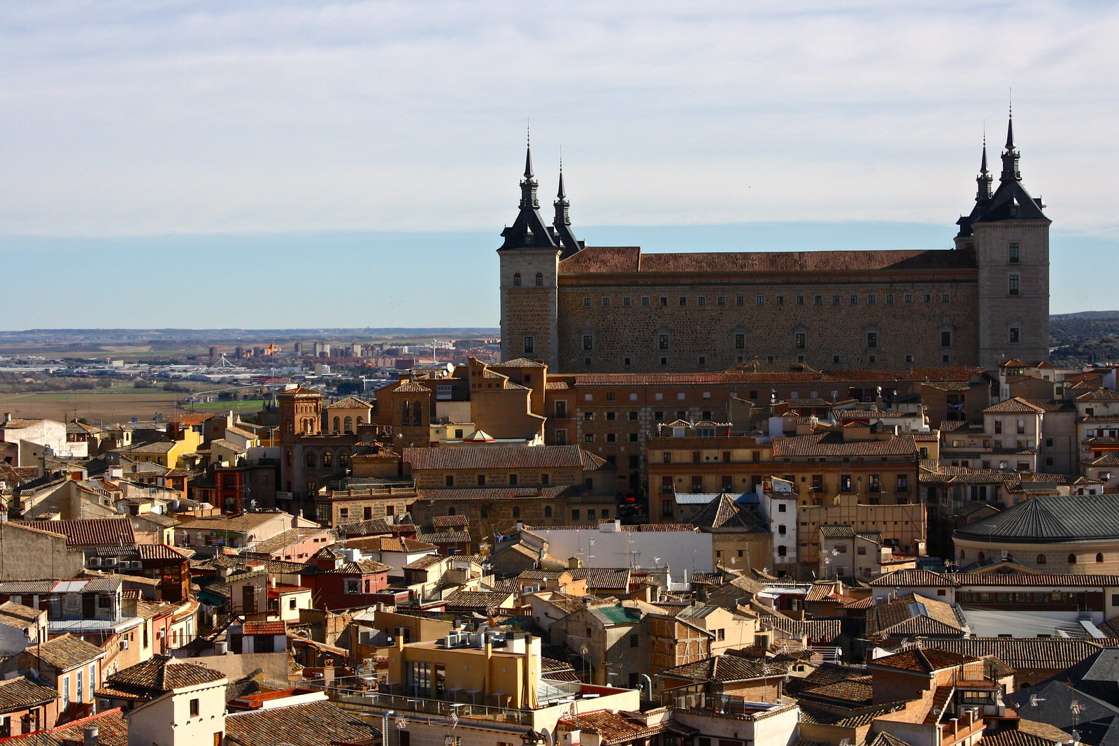 Alcázar castle in Toledo, Spain
