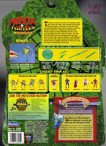 "NINJA TURTLES: THE NEXT MUTATION :: VENUS ..card backer ii  ; signed by Mitchell A. Lee Yuen - ""RAPHAEL""  in N.M.  (( 1997 )) by tOkKa"