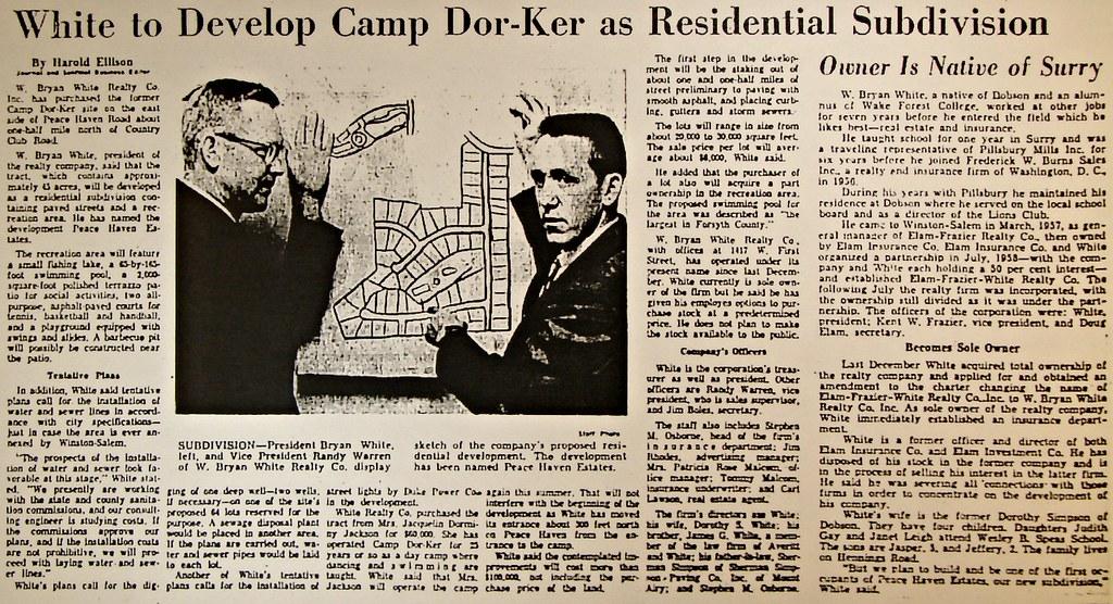Peace Haven Estates Construction - April 24, 1960
