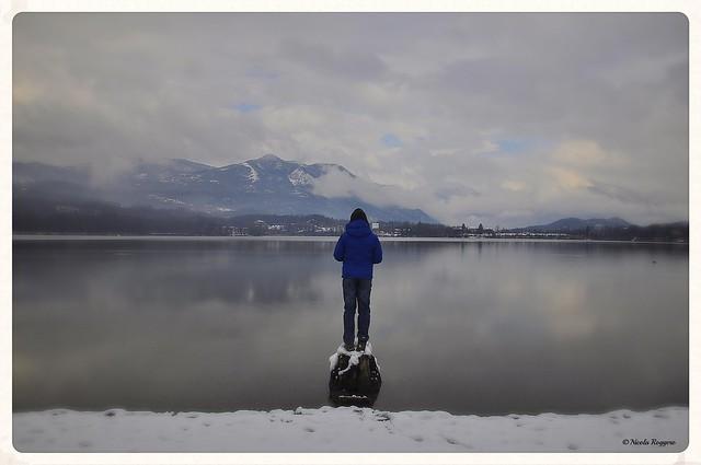 My son on the frozen lake © Nicola Roggero