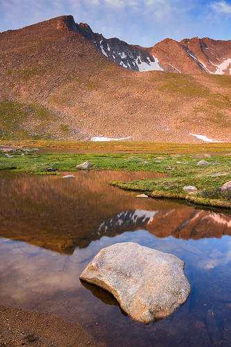 morning blue red summer favorite mountains sunrise reflections colorado unitedstates evergreen rockymountains ponds waterscapes mountevanswilderness