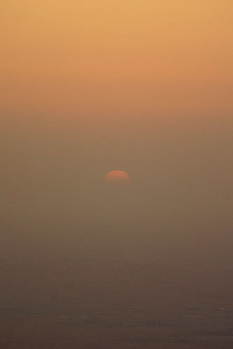 The sun plunges into the desert | by CharlesFred