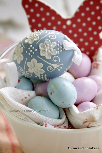 Easter Chocolate Egg, Ice Cream and Berry Dessert