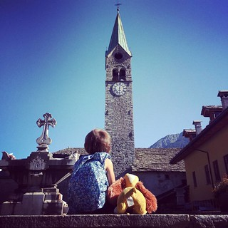 #mountain #bells  #gressoney #church #margherita #ladyandthetramp #sky #summer | by Mario De Carli