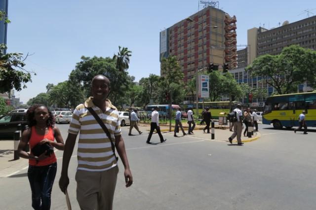 Nairobin keskustan katunäkymä