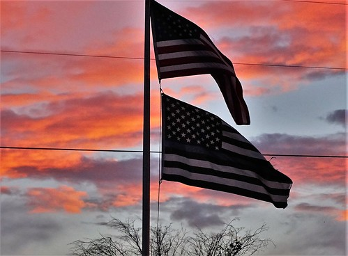 newmexico sunset flags