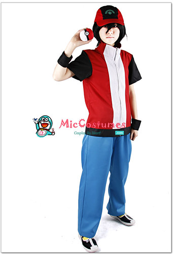 Pokemon Red Cosplay Costume | by Miccostumes.com