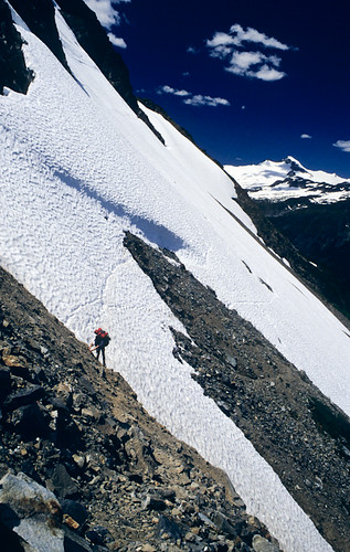 Steep Snow, Cache Col   by fotostevia