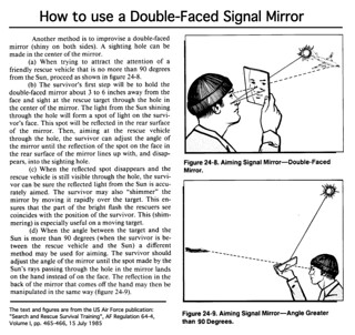 How to use a Double-Faced Signal Mirror | by signal mirror