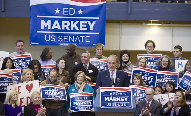 Ed Markey announcing his campaign for Senate