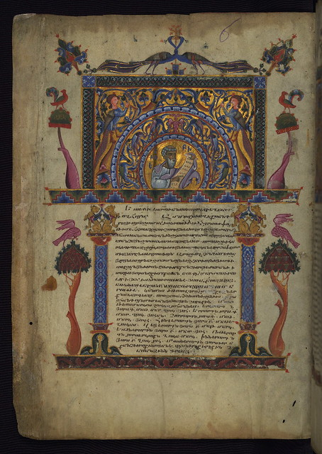 T'oros Roslin Gospels, Decorated page with image of Eusebius, Walters Manuscript W.539, fol. 1v