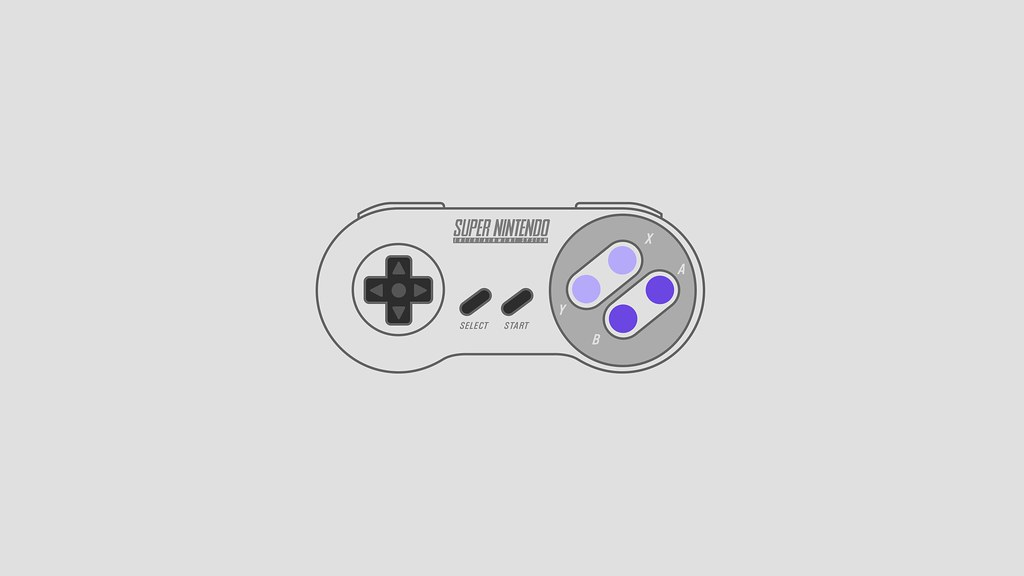 Super Nintendo Snes Controller Wallpaper Usa Version