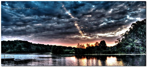 sunset summer sky sun lake water clouds nikon michigan hdr sunsetoverwater