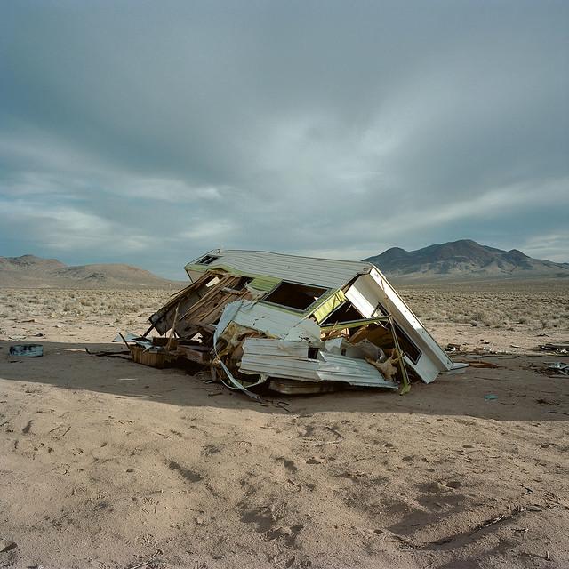 abandoned trailer. mojave desert, ca. 2013.