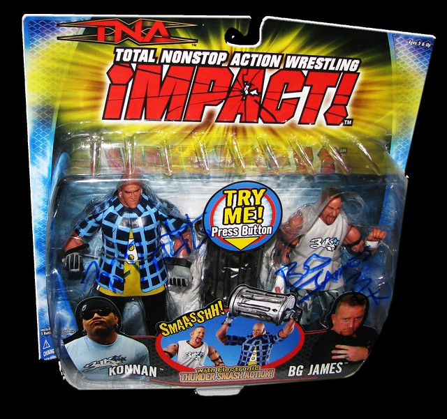 BG James & Konnan Autographed MARVEL TNA IMPACT! Series 1 - 2-Pack Figures