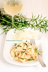 Hommade pasta with rosemary, parmesan and white winw