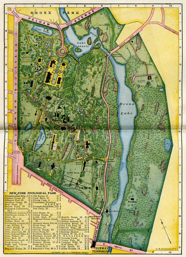 1907 Bronx Zoo Map | Todd Berkun | Flickr on ny aquarium map, south bronx map, brooklyn map, mta bronx bus route map, subway map, arthur avenue map, buffalo zoo ny map, prospect park map, american museum of natural history map, gun hill road map, zoo park map, wildlife safari map, arthur ave bronx ny map, bronx street map, woodlawn cemetery bronx map, manhattanhenge map, new york map, the bronx map, virginia zoological park map, central park map,