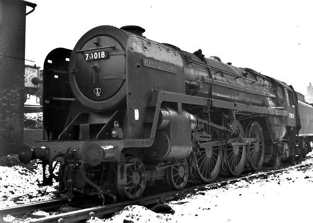 Railways - 70018 'Flying Dutchman' at Gloucester (Barnwood) Shed
