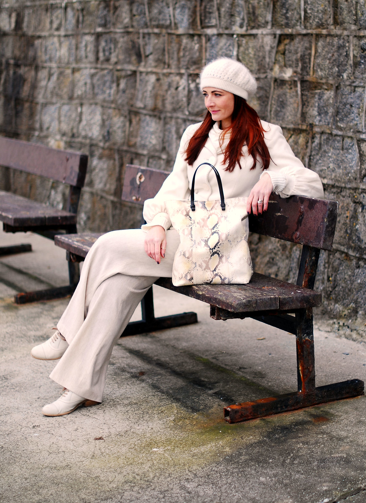 Head-to-toe winter white - Not Dressed As Lamb