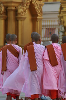 Myanmar, Yangon -  Feb 2013 - At the famous Shwedagon Pagoda, the most famous Budhist pilgrimage site in Myanmar. 照片 631