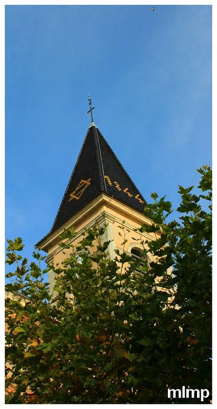 Le clocher de l'église Saint-Germain d'Igé