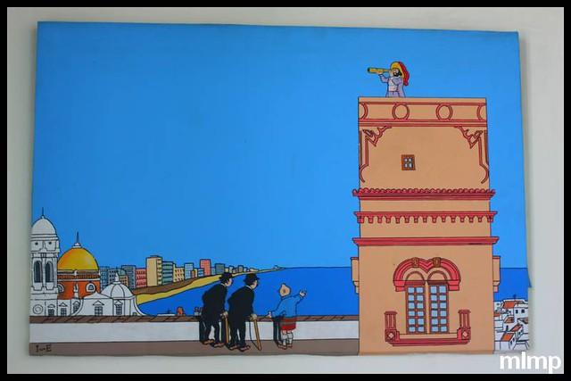 Tintin dans la Torre Tavira à Cadix