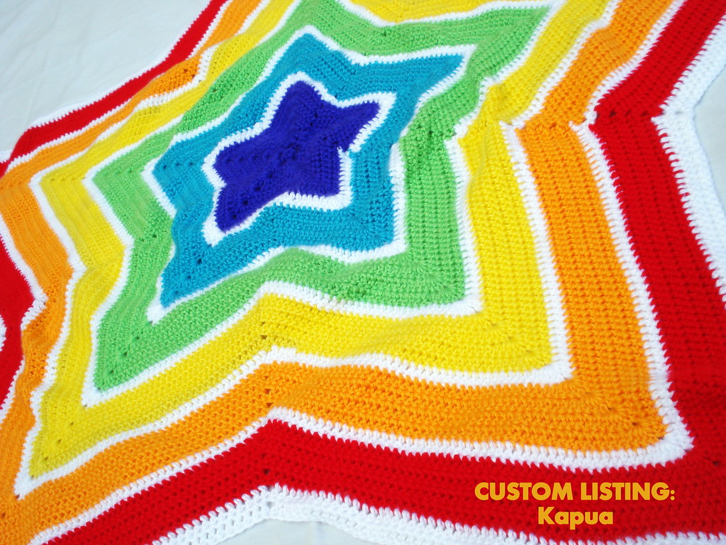Crocheted Rainbow Star Baby Blanket Paige Flickr