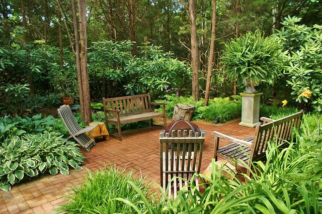 Garden seating on a brick patio (1)