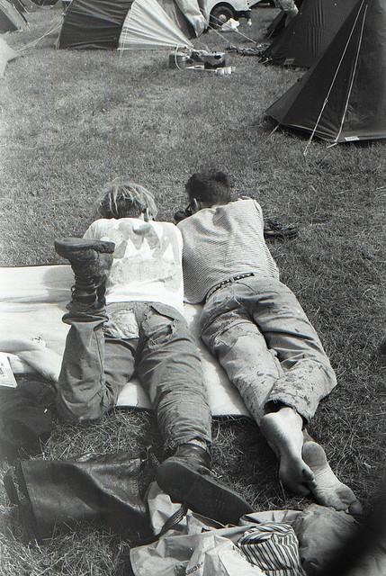 Tom & Nick Glastonbury 1987