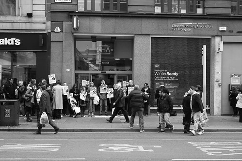 Anti bedroom tax demonstration outside GHA | by cameronjking