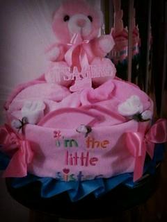 Little Sister 1 Tier Diaper Cake