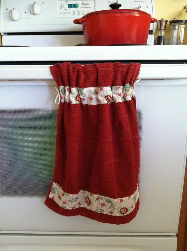 Stay put kitchen towel