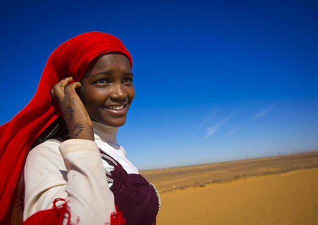 Sudanese Teenager Girl, Meroe, Sudan
