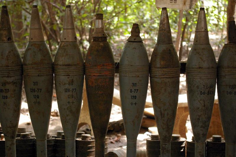 Landmines in the Cambodia Landmine Museum