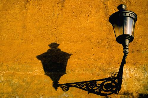 black shadow on yellow