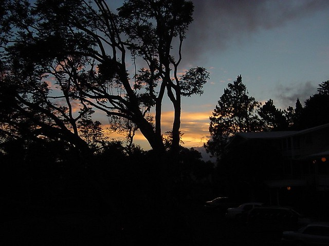 Sunset in Kamuela, upcountry on Big Island of Hawai'i
