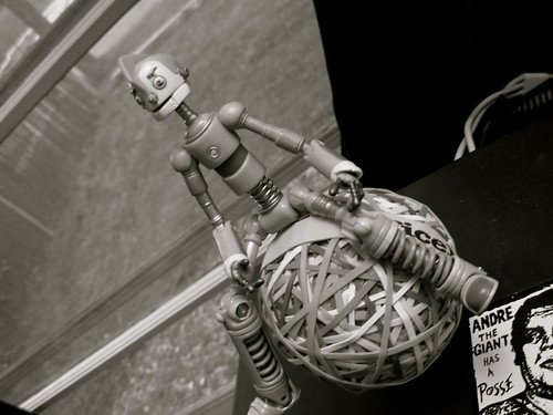 Robot Guarding the Rubber Band Ball | by The Adventures of Kristin & Adam