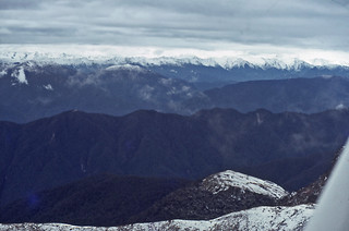 Spencer Range, Nelson from above the Victoria Range,  New Zealand, 1978