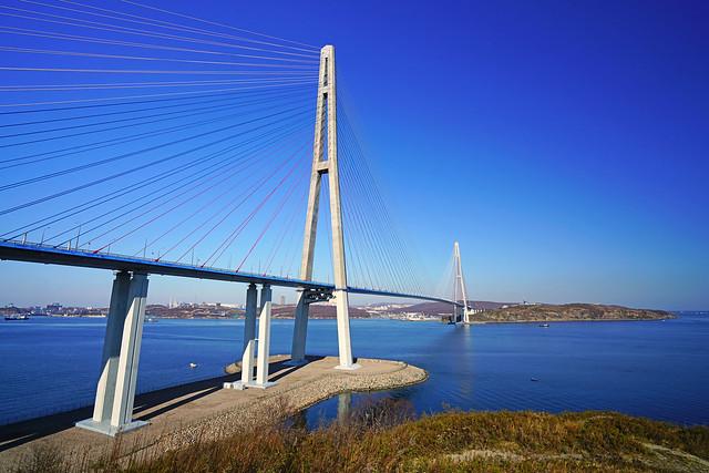 Bridge from Russkiy Island to Vladivostok, Russia