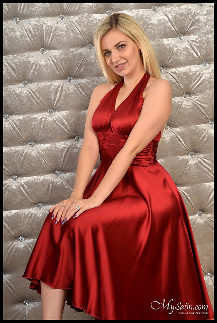 Hannah Shaw red silk dress - a photo on Flickriver