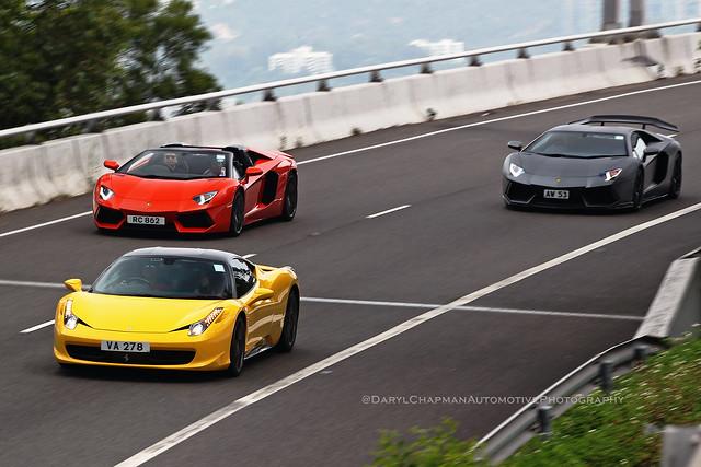 Ferrari 458 Italia / Lamborghini Aventador LP700-4, Sunny Bay, Hong Kong