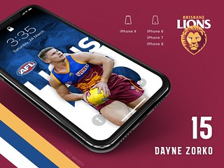 #15 Dayne Zorko (Brisbane Lions) iPhone Wallpapers | by Rob Masefield (masey.co)