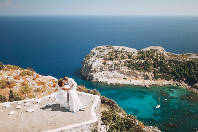Wedding ceremony at Rhodes Island