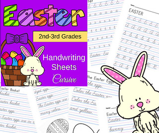 Easter Cursive Handwriting Sheets for 2nd and 3rd Grades | by CHSH-Teach