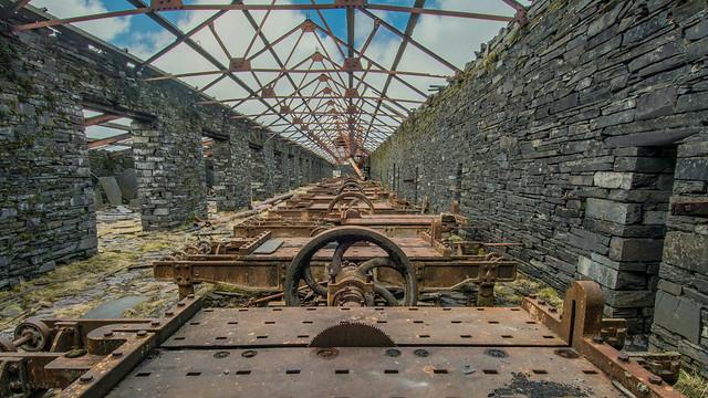 Abandoned Slate Cutting Factory ... Llanberis