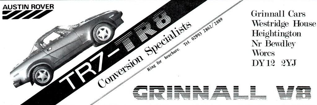 1989 Advert Grinnall V8 Conversions Triumph Tr7 Tr8 Flickr