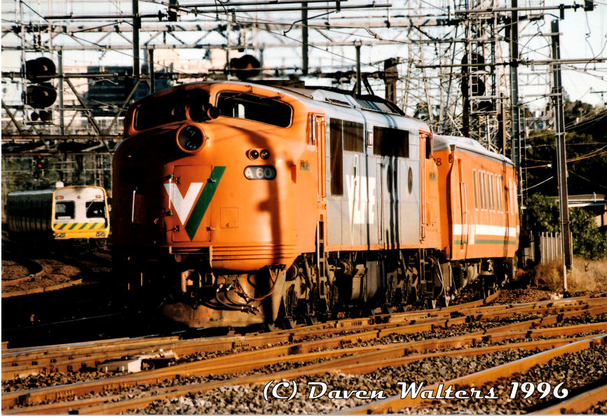 A60 Up Seymour Pass North Melbourne Junction 24 08 1996 by Daven Walters