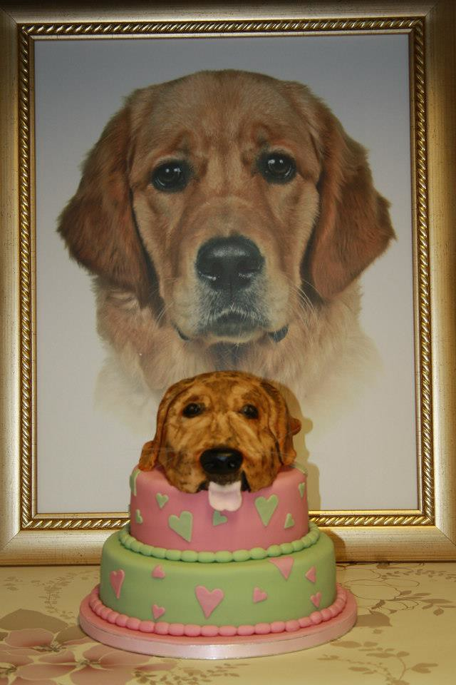 Astonishing Golden Retriever Cake This Is Our Daughters 8Th Birthday C Flickr Funny Birthday Cards Online Alyptdamsfinfo