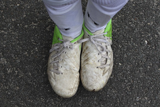 out with the old [soccer shoes] | by woodleywonderworks